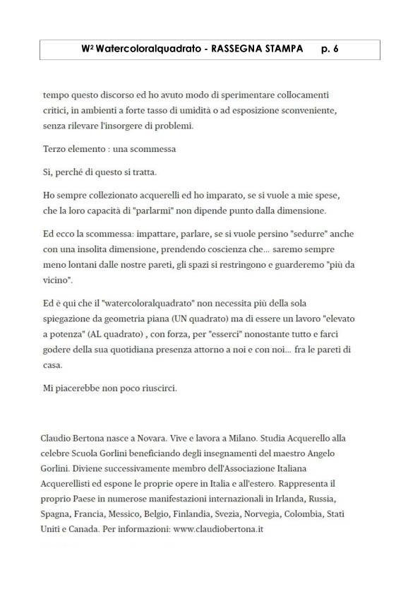 Watercoloralquadrato - Rassegna Stampa -6